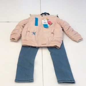 Hudson complete outfit with puffy jacket and jeans